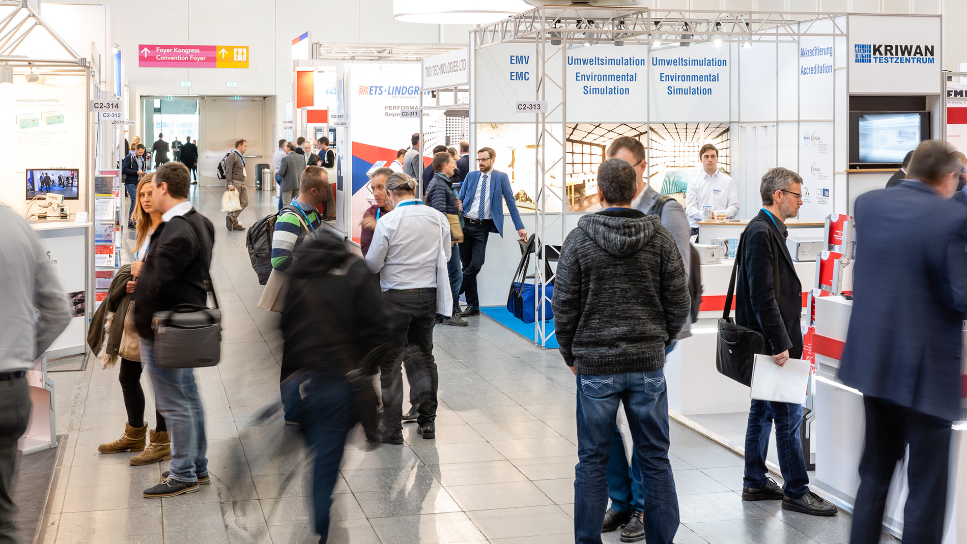 Atmosphere of the EMV trade fair